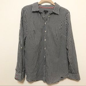 Talbots, Gingham Long Sleeve Button Down shirt
